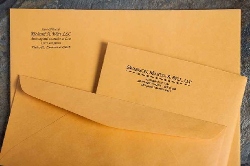 envelope remetente
